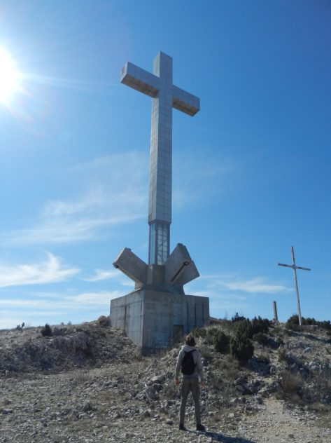 Cross on Hum Hill, Mostar, Bosnia